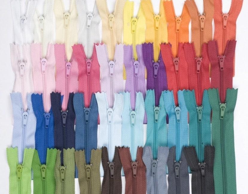 Cremalleras de colores
