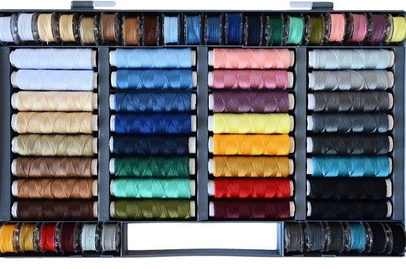 Hilos de colores para máquina de coser