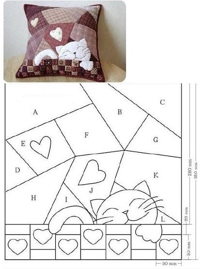 Modello per cuscino
