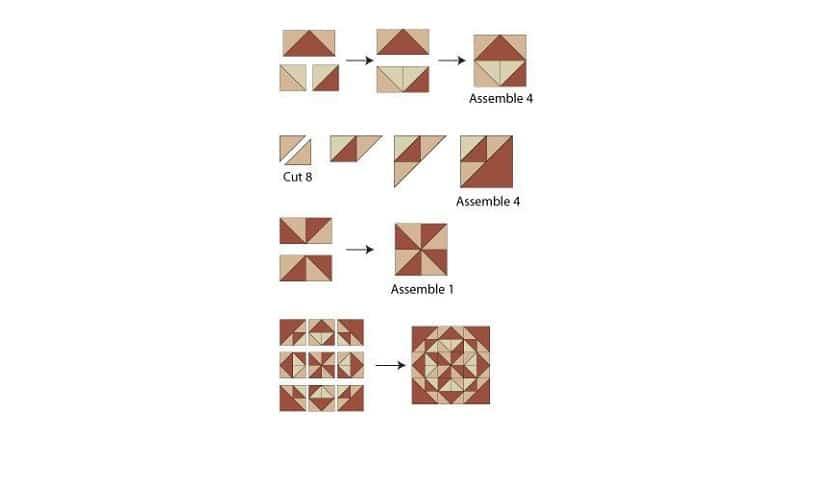 Patrón para hacer un cojín patchwork paso a paso
