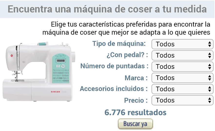 comparador máquinas de coser